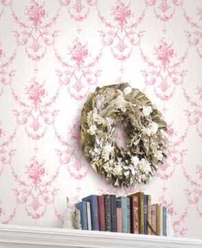 Pink Toile from Chambray Wallpaper Book