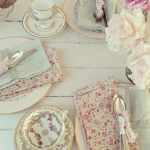Rachel Ashwell Shabby Chic Couture Tabletop by phoebe #countryliving #shabbychic #tablescape