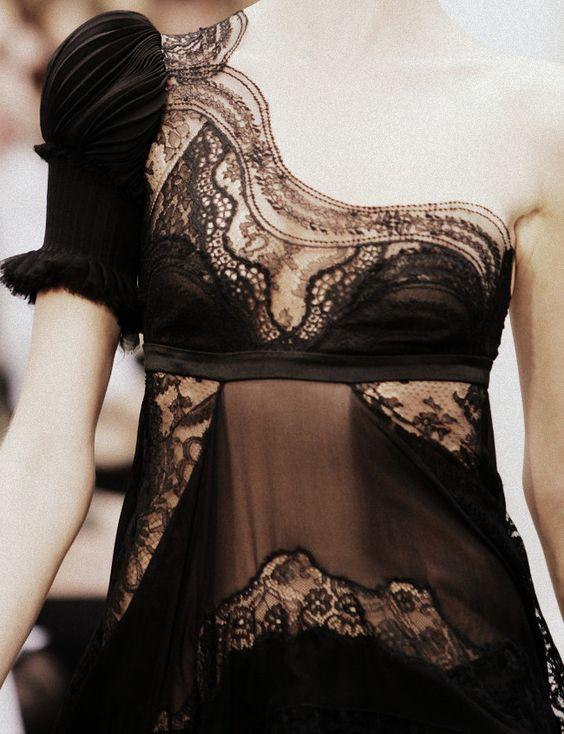 : Lace Neckline, Black Laces, Black Lace Dresses, Beautiful Lace, Lace Details, Black Dress, Haute Couture