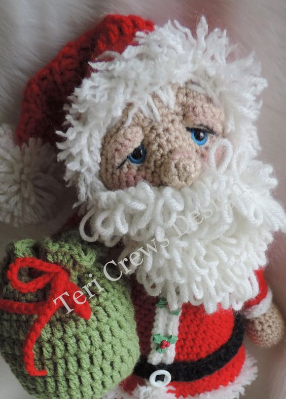 Cute Claus Crochet Pattern by Teri Crews von TCrewsDesigns auf Etsy