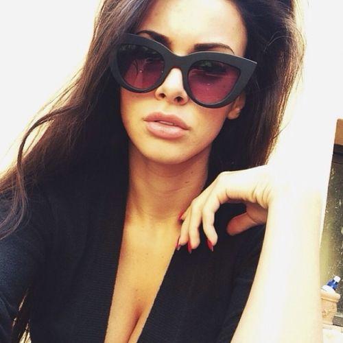LK- Cat-winged shaded sunglasses, classy ;)