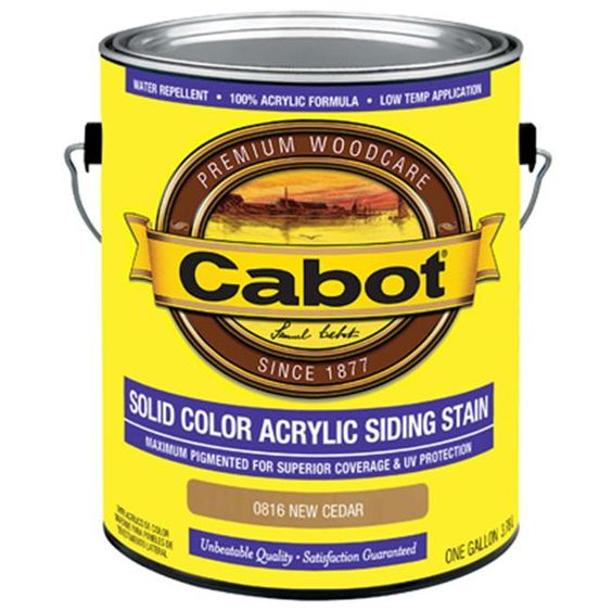 Cabot Tintable Semi Solid Exterior Stain Actual Net Contents 580 0 Fl Oz 140 0001406 008 In 2020 Exterior Stain Oil Based Stain Semi Transparent Stain