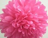 Hot Pink ... 1 tissue paper pom // birthday // party decorations