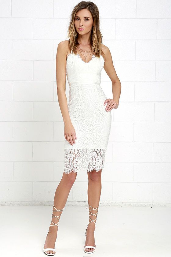 Lace dress ivory grips