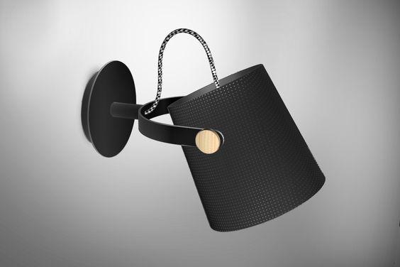 Aplique de pared Nórdica pantalla negra 4925 de Mantra [4925] - 45,38€ :
