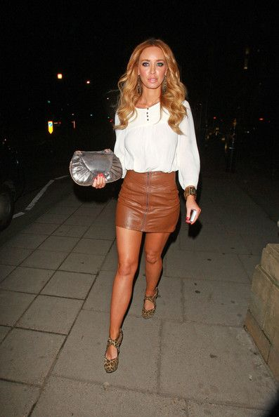 Brown Leather Look Skirt - Redskirtz