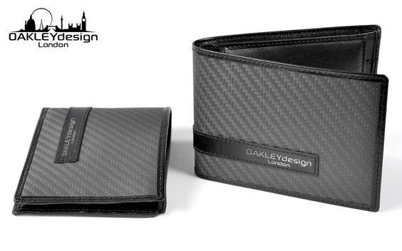 Carbon fibre & leather wallet.