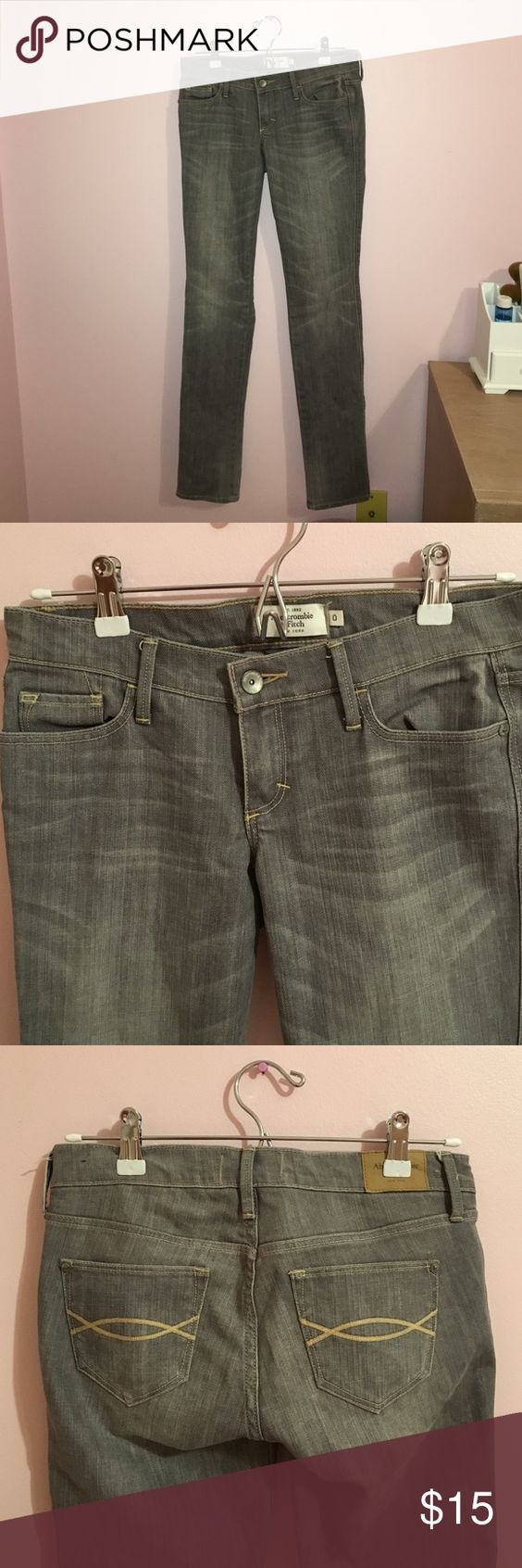Gray Skinny Jeans Abercrombie and Fitch Gray Skinny Jeans. Gently used. Abercrombie & Fitch Jeans Skinny