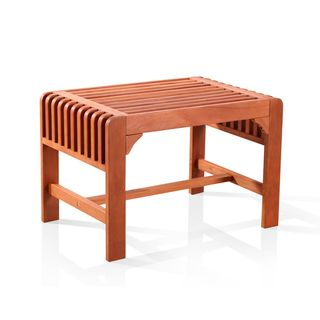 Vifah Backless Single Wood Outdoor Bench | Overstock.com Shopping - Great Deals on Vifah Outdoor Benches