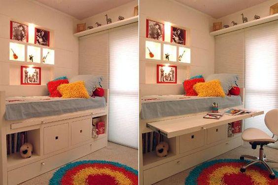 8 formas de aprovechar el espacio debajo de la cama  Plataformas, cajones y…