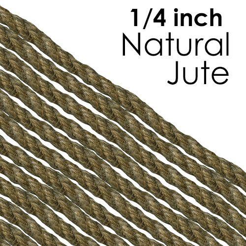 Jute Craft Rope 1 4 Inch 6 35 Mm Jute Crafts Jute Rope Jute