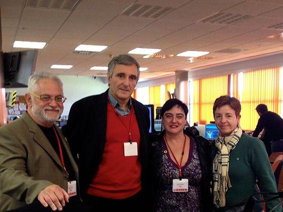 Els Verds visiten RTVV per tal de donar suport a treballadors i treballadores de l'ens públic