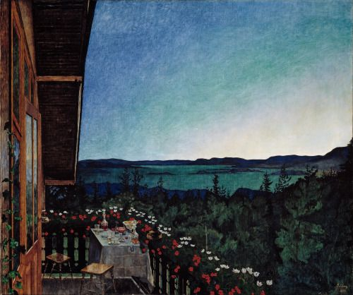 laclefdescoeurs:  Summer Night 1899 Harald Sohlberg