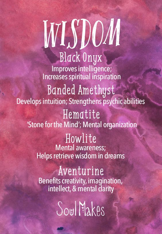 °Wisdom & Insight crystals meaning card by SoulMakes