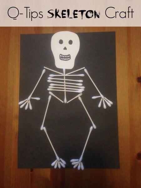 q tip skeleton template - crafts easy halloween and halloween skeletons on pinterest