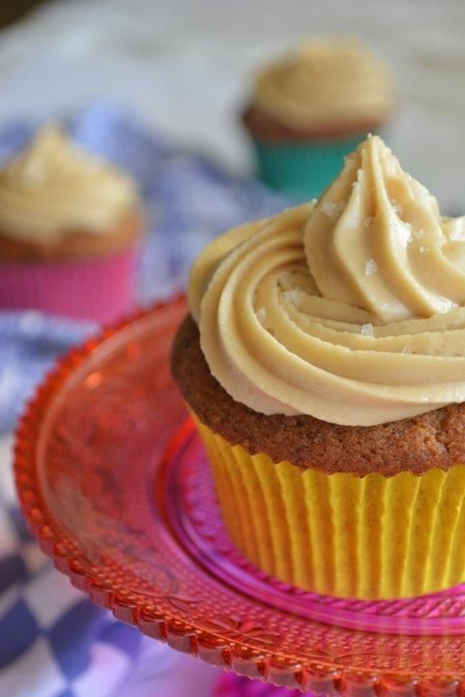 Gluten-free sticky date cupcakes with butterscotch icing