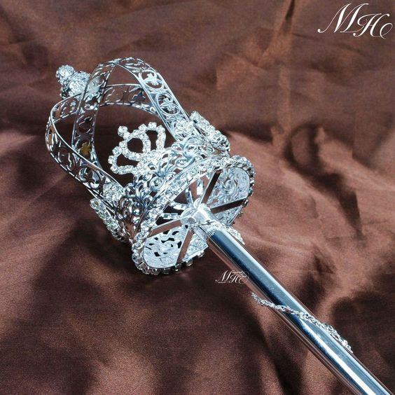 Details About Royal Scepter Wand Bridal Beauty Pageant King Queen Accessory Prop Staff New
