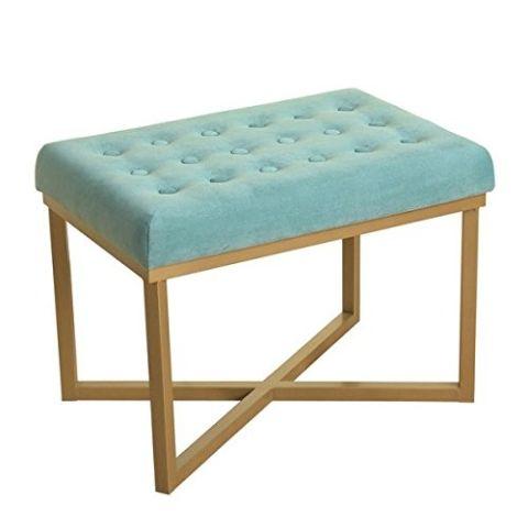 Teal velvet stool Available on Amazon