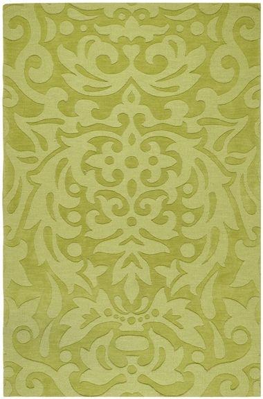green damask rug