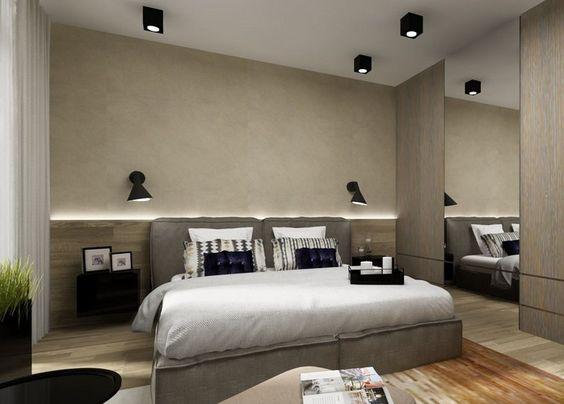 indirekte-beleuchtung-led-schlafzimmer-wand-hinter-bett-holz ...
