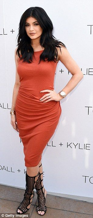Channeling someone? For her appearance, the 17-year-old wore a very Kim-inspired look feat...