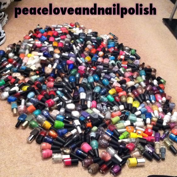 My ridiculous collection of nail polish ;)