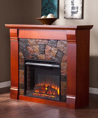 Another great find on #zulily! Mahogany Elkmont Electric Fireplace #zulilyfinds