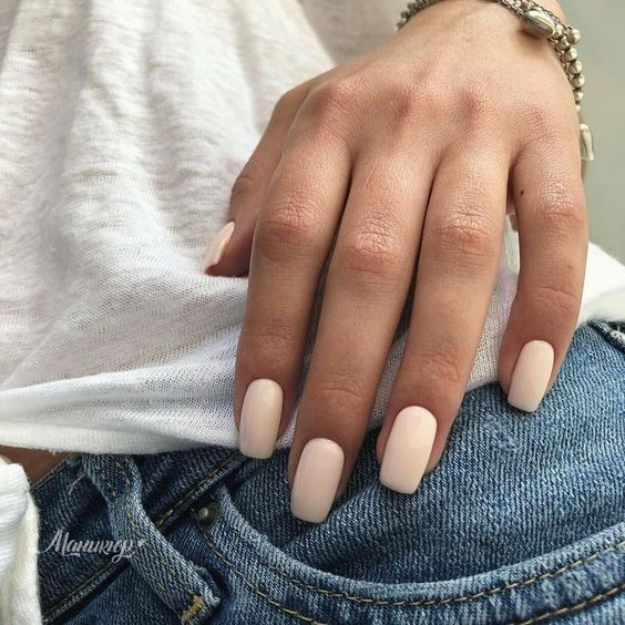 Beauty Nailpolish White Nailpolish Beige Nailpolish Jeans White Shirt Bracelet Neutrals Basic Outfit Basic Nagels Nagelkleur Nagellak Trends