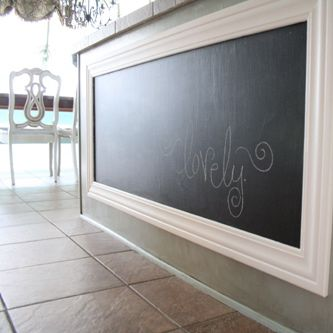 Very cute chalkboard in the kitchen...perfect for little ones!