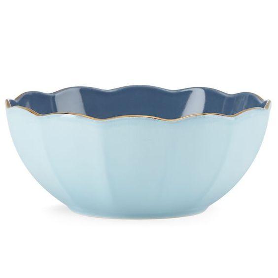 Marchesa Shades Blue All Purpose Bowl By Lenox