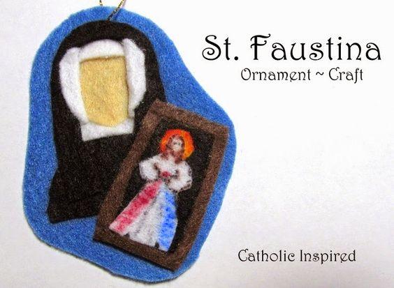 St. Faustina Kowalska Craft {Liturgical Ornament} - Catholic Inspired