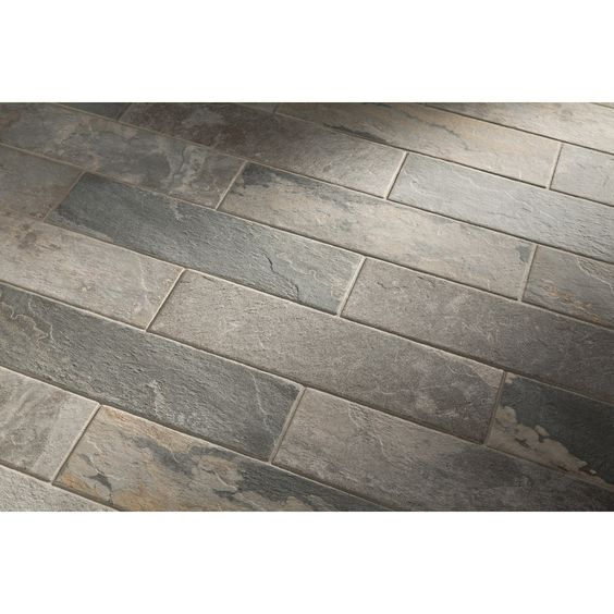 Shop Style Selections Ivetta Black Slate Glazed Porcelain Indoor/Outdoor  Floor Tile (Common: