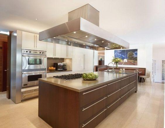 küche mit kochinsel ausgefallene ideen für die moderne küche - ikea küchenblock freistehend