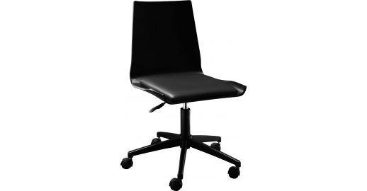 Gandhi Chaise De Bureau A Roulette Noire En Chene Chaise Bureau Chaise Bureau