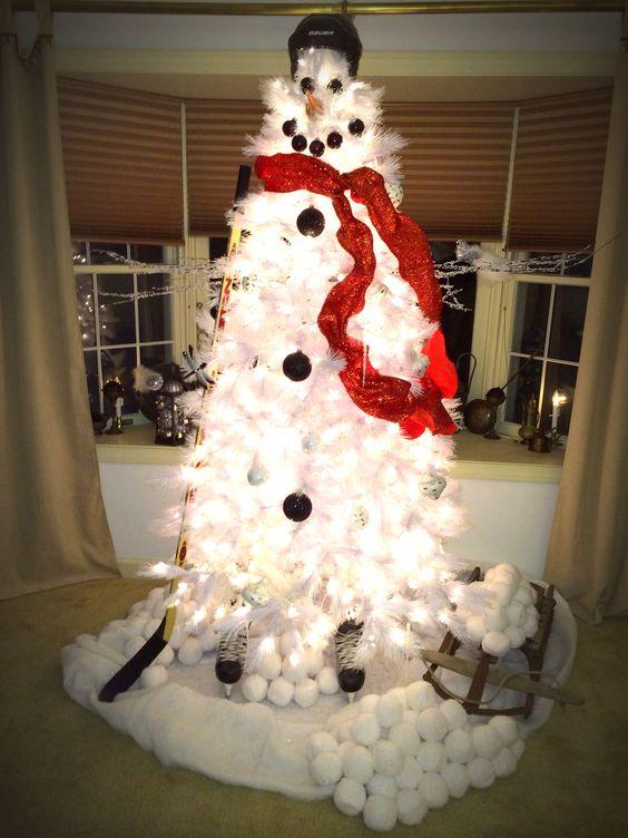 Hockey Snowman Christmas Tree NHL News Pinterest Hockey