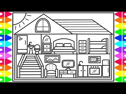 How To Draw A House For Kids House Drawing For Kids House Coloring Pages For Kids In 2020 House Drawing For Kids Coloring Pages For Kids House Colouring Pages