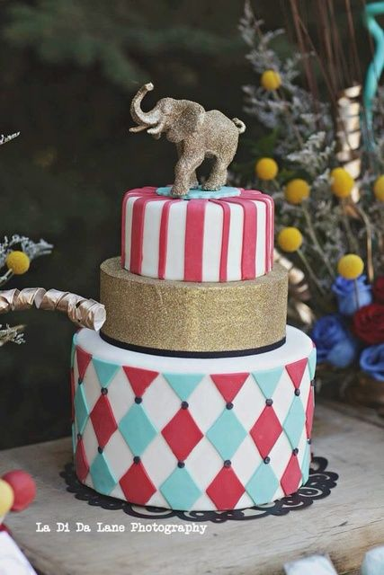 Stunning cake at a Circus party! See more party ideas at CatchMyParty.com!: