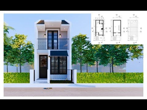 3x8m Tiny House Small 2 Storey House Low Budget Shipping Container House Youtube In 2021 Small House Design Modern Small House Design 2 Storey House Design