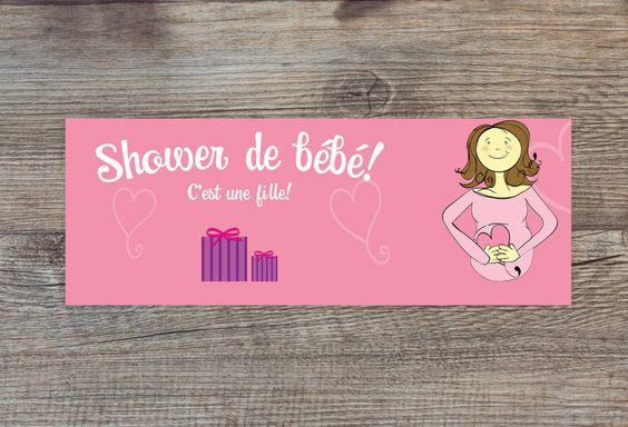 Bannière Facebook pour un shower de bébé : C'est une fille ! par CreationsMemento sur Etsy https://www.etsy.com/ca-fr/listing/466021758/banniere-facebook-pour-un-shower-de-bebe