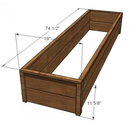 Raised bed planter plans