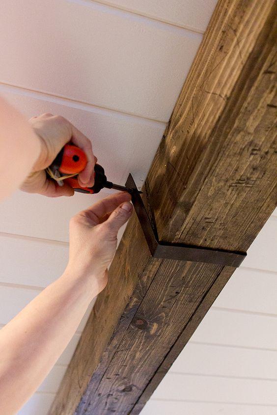 Miroir Bois Flotte Casa : Wood Ceiling Beam Cover