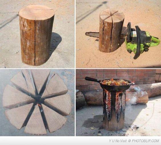 DIY log cooker thing!