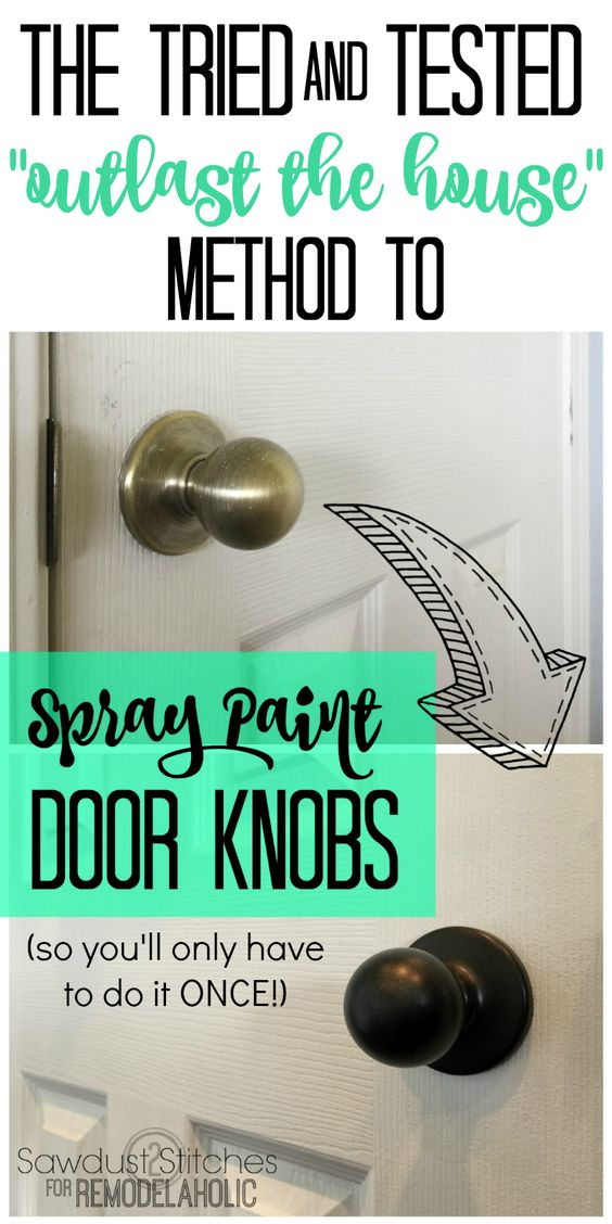 How to upgrade door knobs with spray paint -- the RIGHT way so you'll only have to do it ONCE! Get all the details (and why you shouldn't take shortcuts) from Sawdust2Stitches on Remodelaholic.com