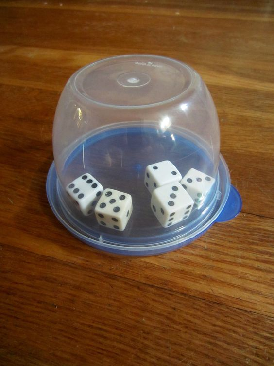 This trick helps you keep control of your dice when playing in awkward places like buses and cars. Place your dice in a small clear container with a lid. When it is your turn to roll just shake the whole container. This dice shaker works great for games where you roll all at once.