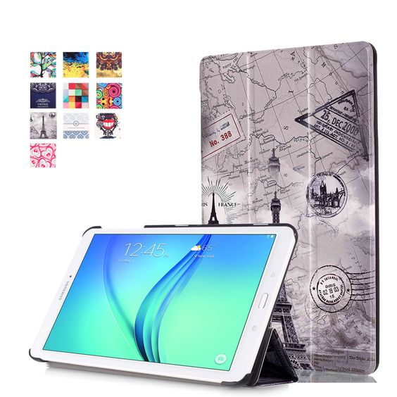 $9.99 (Buy here: http://appdeal.ru/82mk ) Magnet Stand pu Leather case cover For Samsung Galaxy Tab E T560 T561 9.6 Tablet funda cover case + screen protectors + stylus for just $9.99