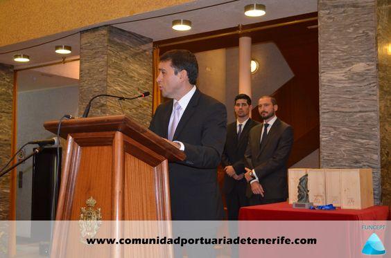 Don José Manuel Bermúdez Esparza, Alcalde de Santa Cruz de Tenerife, durante su discurso antes de la entrega de los premios.