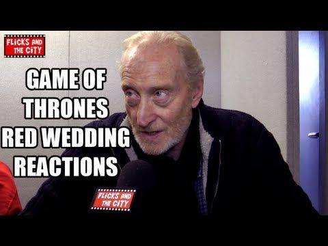 Of Thrones Red Wedding Reactions From Tywin Lannister Charles Dance Arya Stark Maisie Williams Loras Tyrell Finn Jones Margaery Tyrel