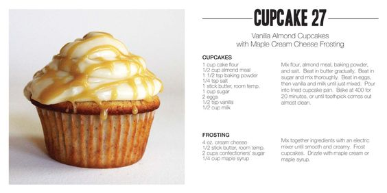 Vanilla Almond Cupcake with Maple frosting.