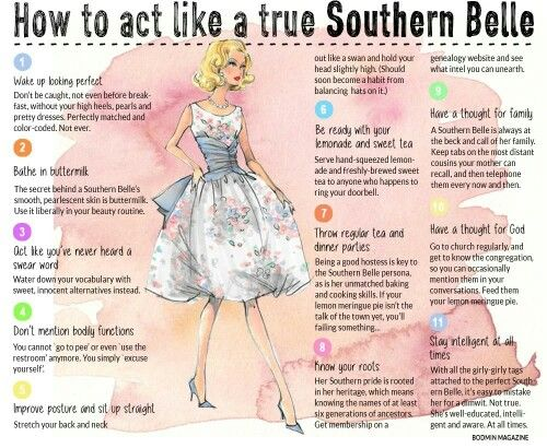 HOW TO BE A SOUTHERN BELLE - A true Belle has God first and the rest second. Amen