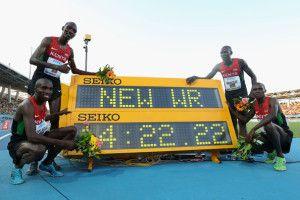 Athlé - New WR 4x1500m Kenyan - Mai 2014